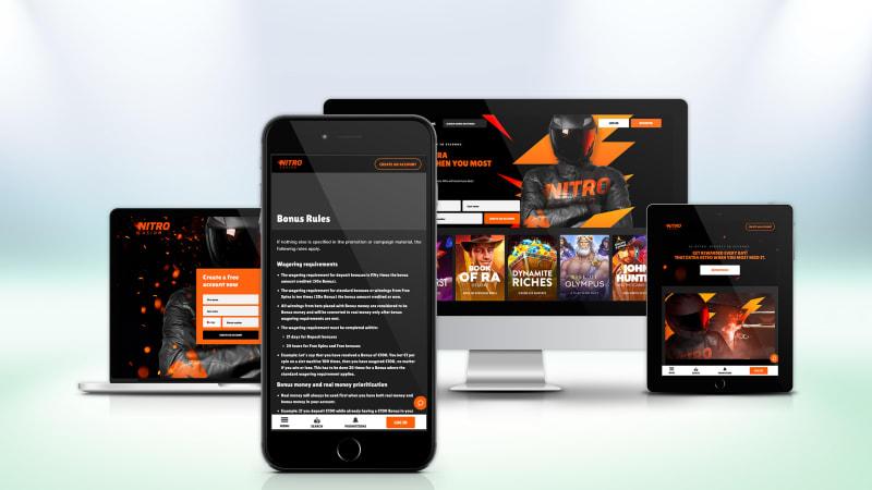Nitro Casino on All Devices