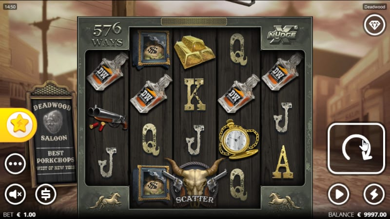 Deadwood Slot from Nolimit City Main Game