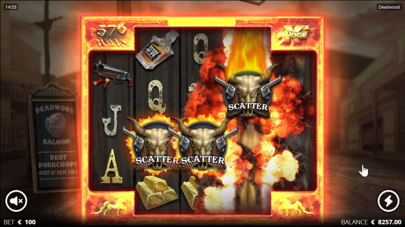 Deadwood slot from Nolimit City - Free spins trigger