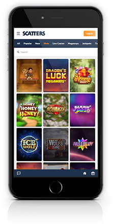 Scatters Casino - Mobile - Games lobby