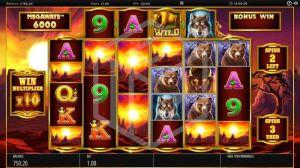 Buffalo Rising Slot Feature Reels Screenshot By Blueprint