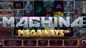 Logo of Machina Megaways™ Slot by Kalamba Games, distributed by Relax Gaming and licensed under Big Time Gaming