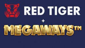 Megaways to Red Tiger - Image showing both logos