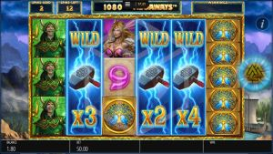 Lightning Strike Megaways Slot Mystery Symbol with Multiplier Feature During Free Spin Feature Screenshot by Blueprint