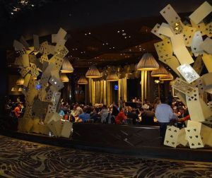 The poker room of Aria in Las Vegas