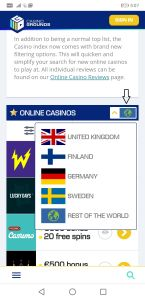 Guide: How to find casinos with must drop jackpots on CasinoGrounds (step 2)