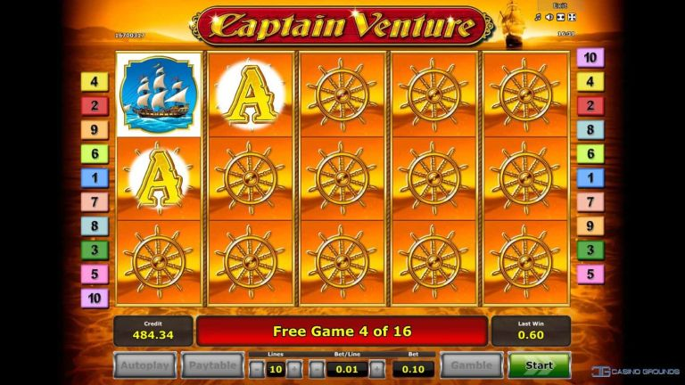Video Slot Review – Captain Venture - Novomatic