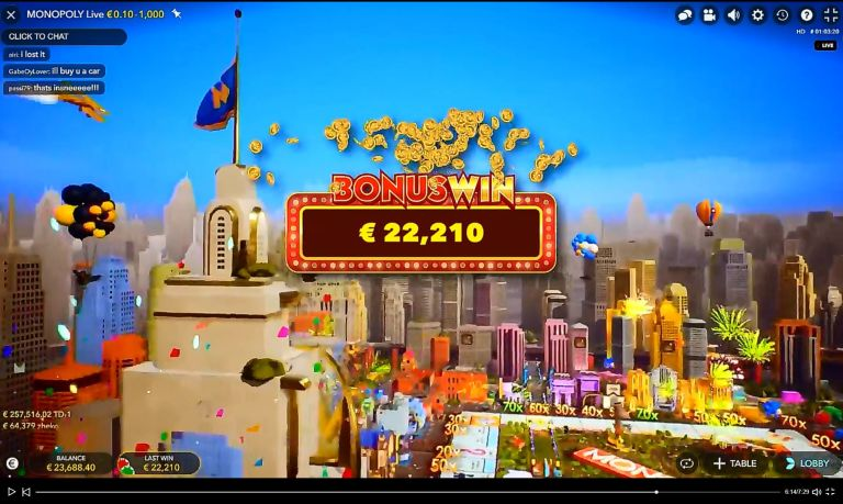 Monster Win on Monopoly Live Two Days After Launch
