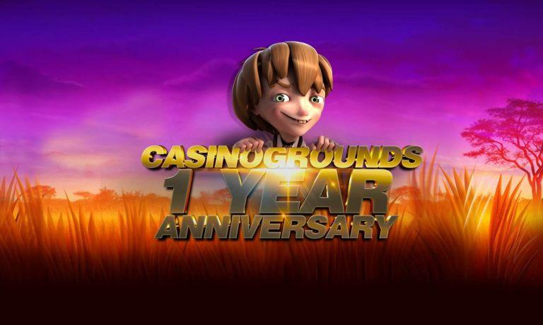 CasinoGrounds 1 year Anniversary