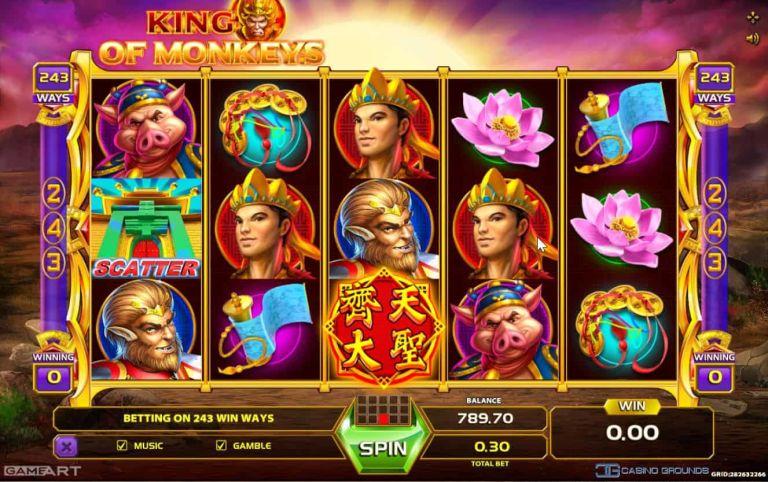New Slot Review – Gameart – King of Monkeys