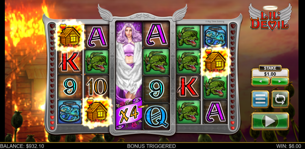 Feature Trigger Spins in the Lil Devil Slot by Big Time Gaming