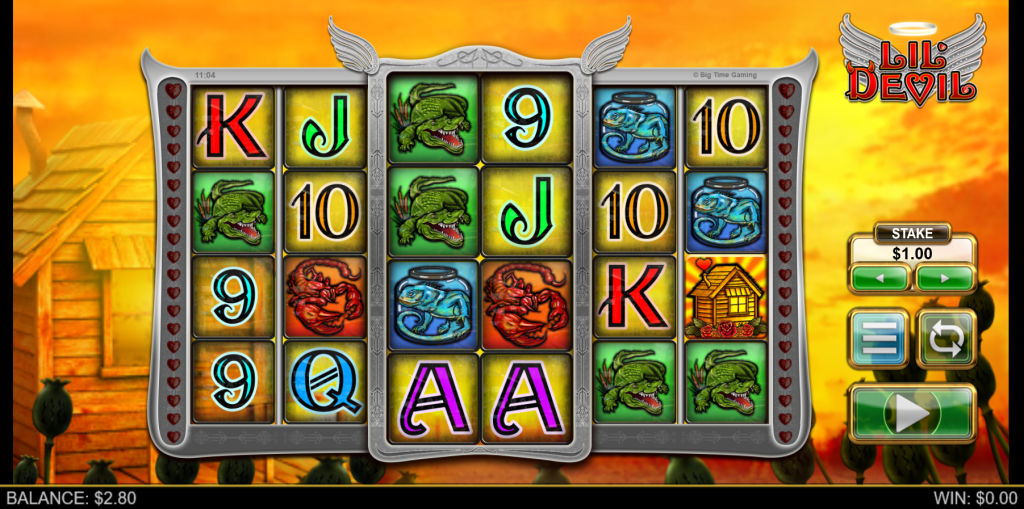 Main screen of the Lil Devil slot by Big Time Gaming