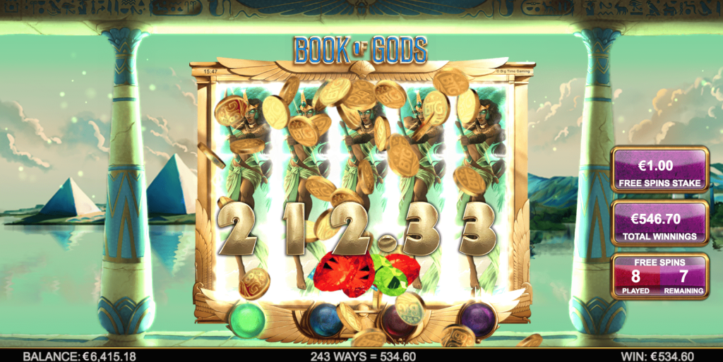 BTG - Book of Gods - Free spins Spin