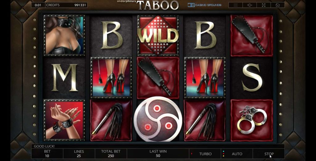 Endorphina -Taboo - Spin - casinogroundsdotcom