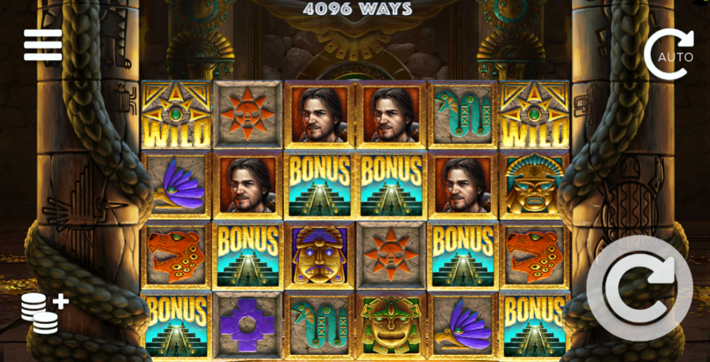 Screenshot of the ghosting wild feature in the Equador Gold slot (Elk Studios)