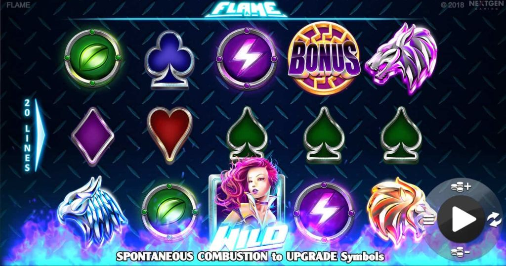 Nextgen - Flame - Reels - casinogroundsdotcom