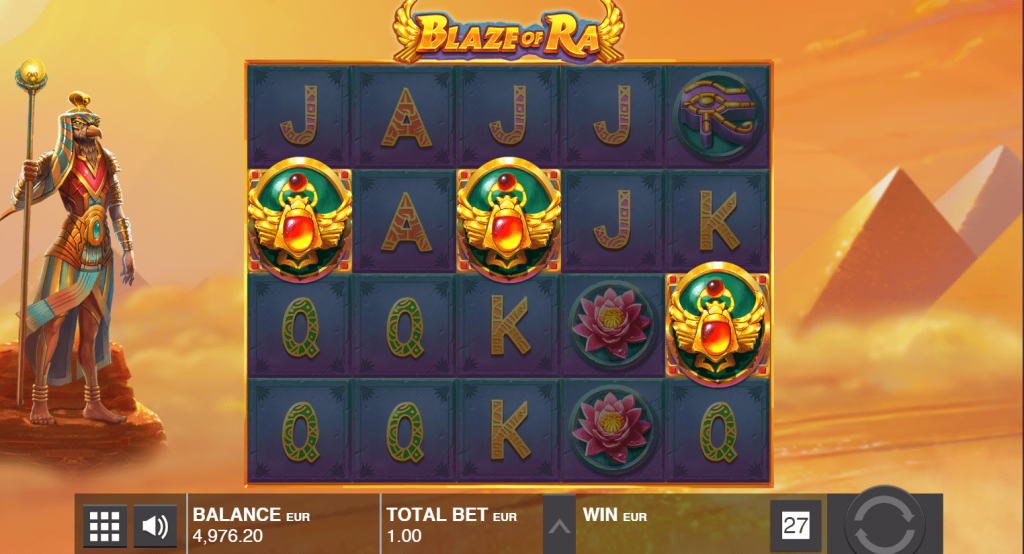 push gaming - blaze of ra- scatters - casinogroundsdotcom
