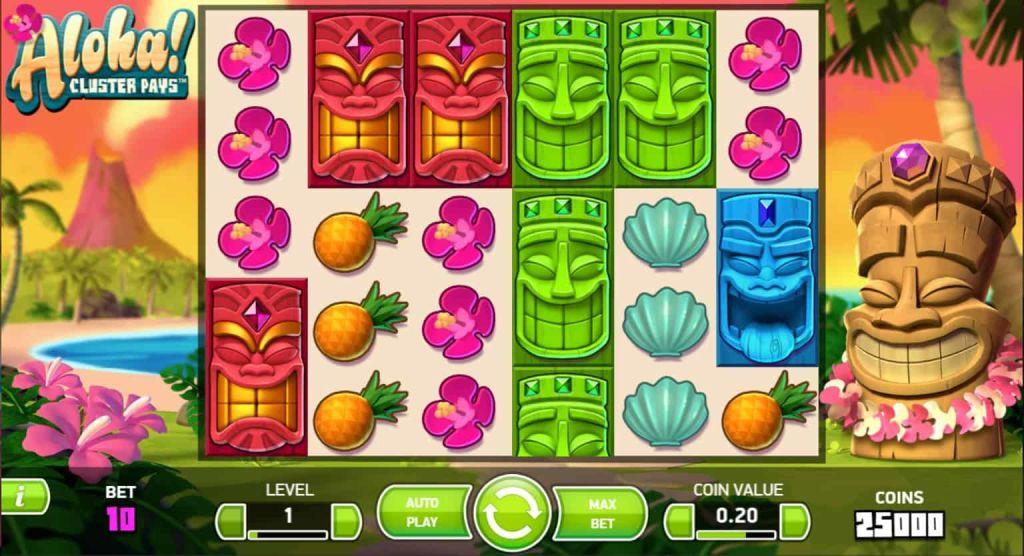 netent - aloha cluster pays - gameplay-casinogroundsdotcom
