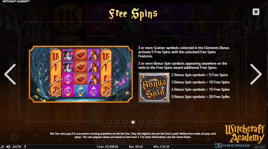 Netent - Witchcraft Academy - Free-Spins