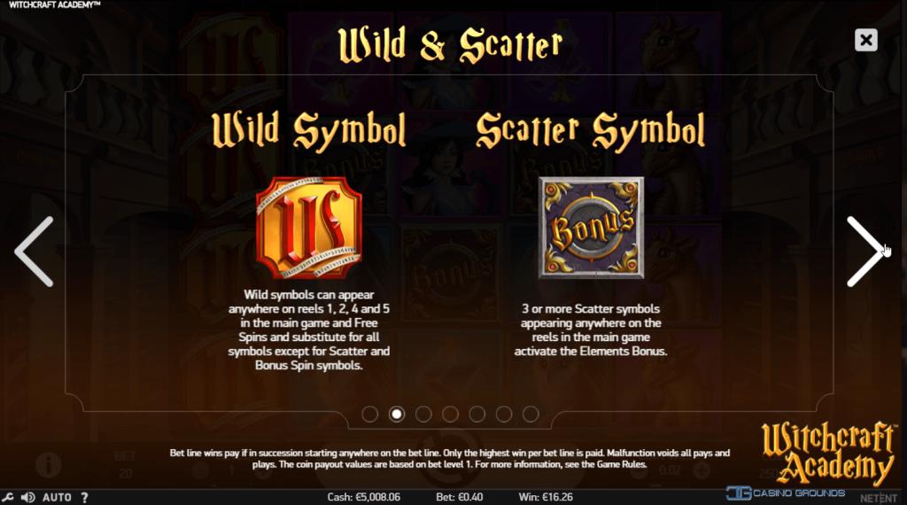 Netent - Witchcraft Academy - Wild-Scatter