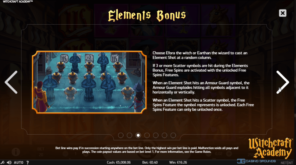 Netent - Witchcraft Academy - Elements Bonus