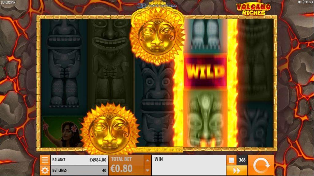 Quickspin - Volcano Riches - Scatter - casinogroundsdotcom