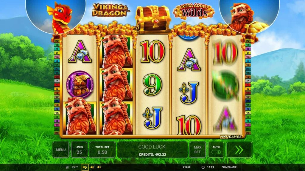 Novomatic - Viking & Dragon - Spins - casinogroundsdotcom