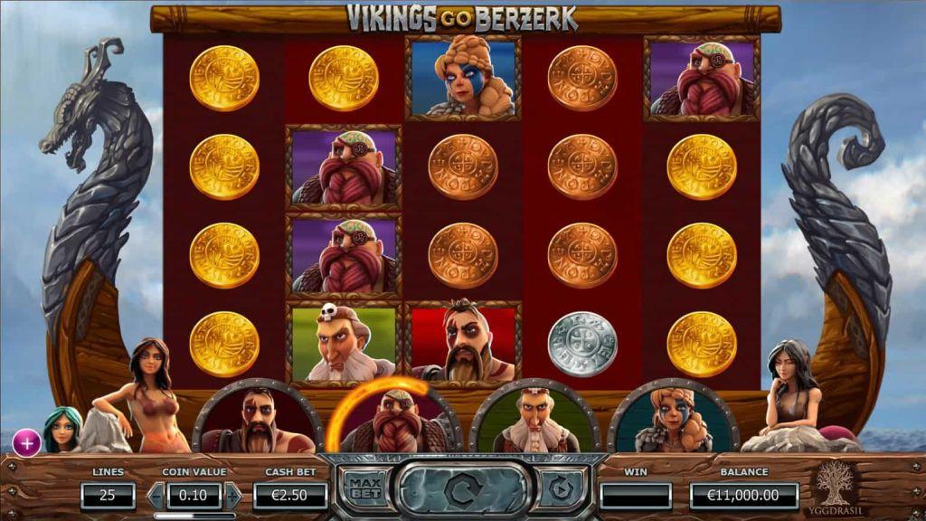 Yggdrasil - Vikings go berzerk -reels - casinogroundsdotcom