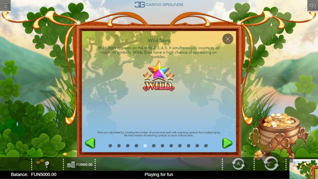 Iron Dog - Rainbow Wilds - Wild Star - casinogroundsdotcom