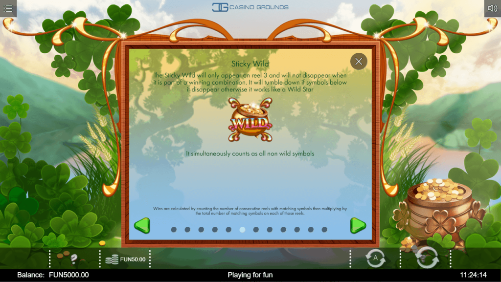 Iron Dog - Rainbow Wilds - Sticky Wild - casinogroundsdotcom