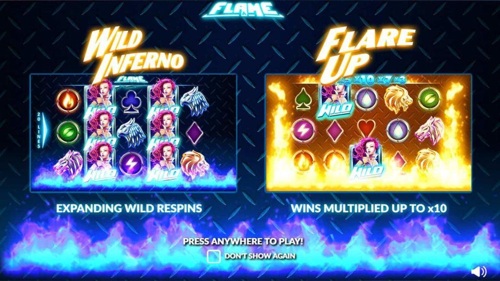 Nextgen - Flame - wild inferno flare up - casinogroundsdotcom