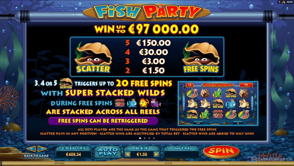Microgaming - Fish Party - Rules Free-spins - casinogroundsdotcom