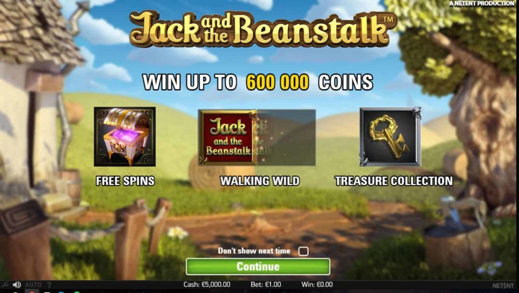 NetEnt - Jack and the Beanstalk -pay table 1 - casinogrounds.com