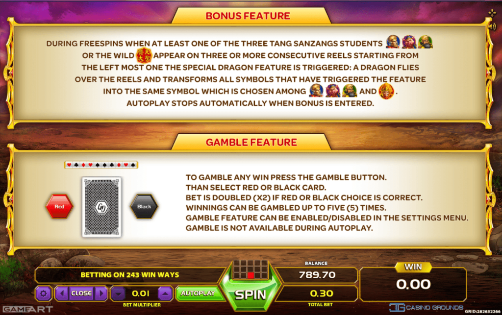 Bonus and Gamble feature King of Monkeys