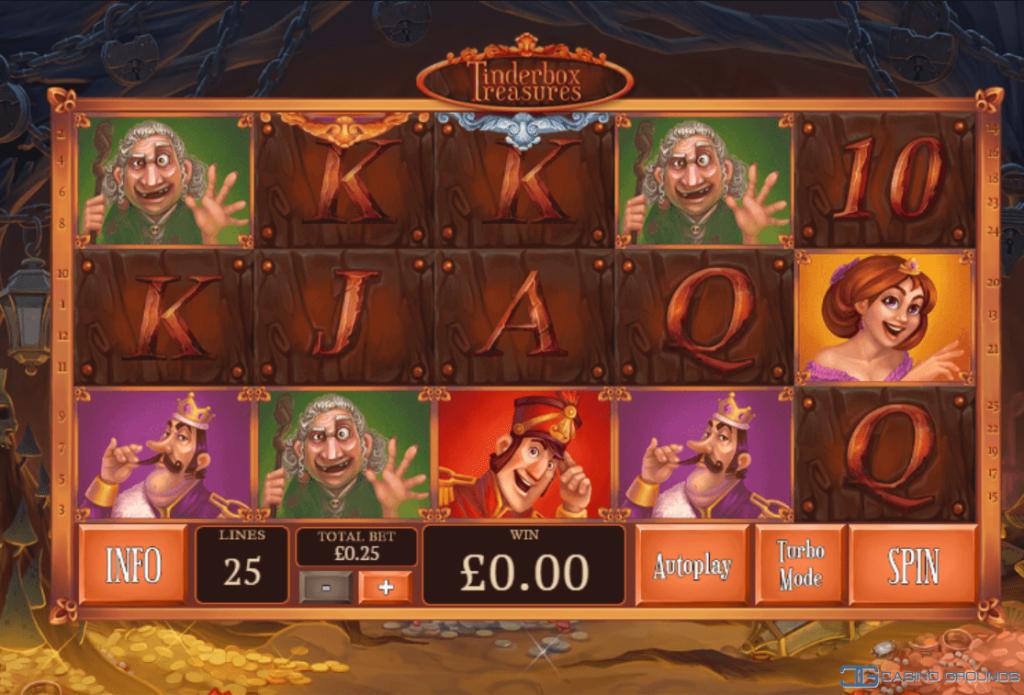 Playtech – Tinderbox Treasures - Reels - Casinogroundsdotcom