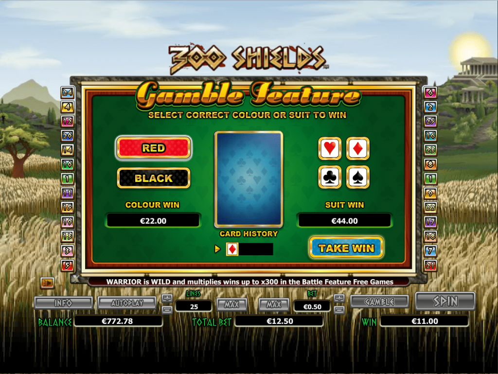 Nextgen - 300 shields - Gamble Feature- Casinogroundsdotcom