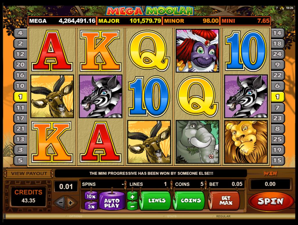 Microgaming - Mega Moolah - Reels - casinogroundsdotcom