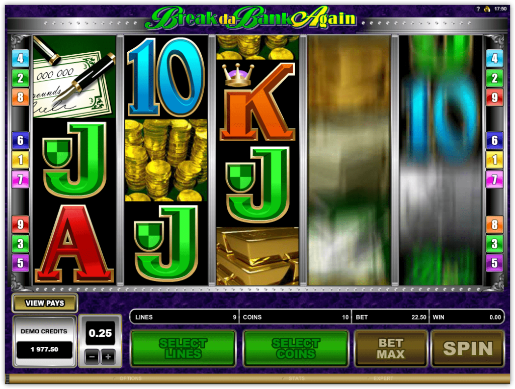Microgaming - Break Da Bank Again -Spin - Casinogroundsdotcom
