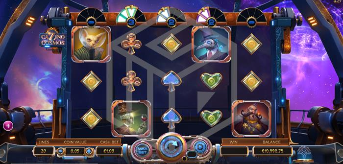 Cazino Cosmos Slot Main Reels Screenshot By Microgaming