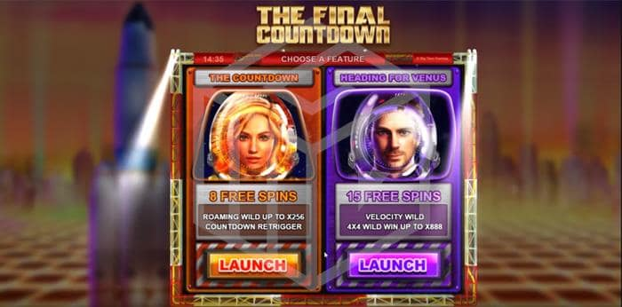 The Final Countdown Feature Select Screenshot By Big Time Gaming