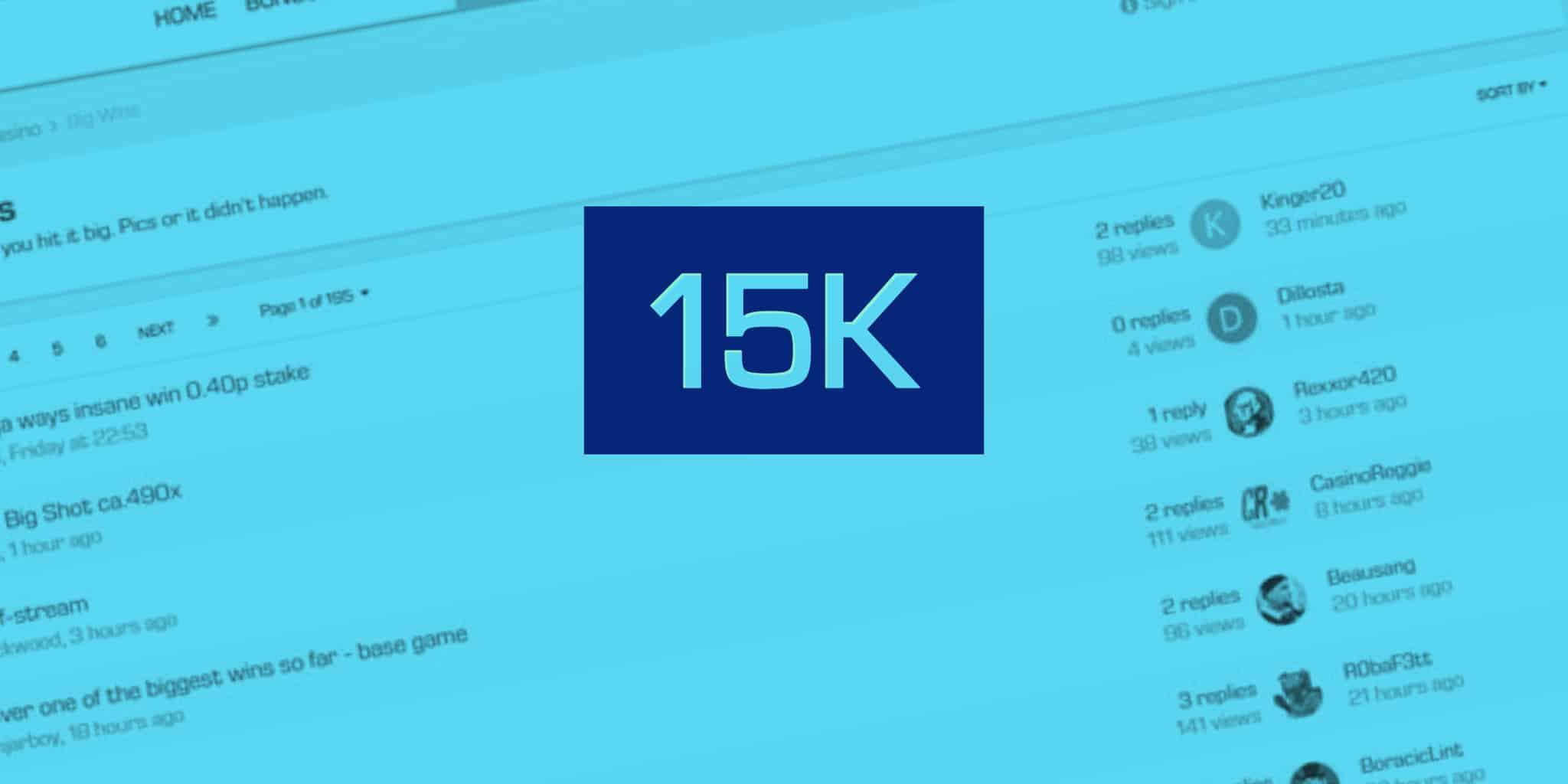 15000 Forum Members