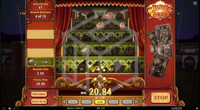 Golden Ticket Slot Bonus Feature Screenshot By Play 'n Go