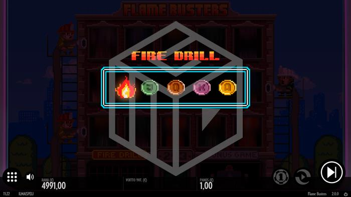 Flame Busters Slot Fire Drill Feature Screenshot By Thunderkick