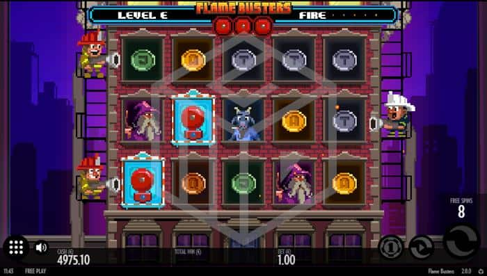 Flame Busters Slot Feature Screenshot By Thunderkick