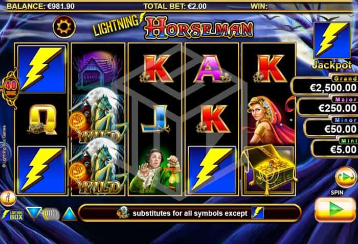 Lightning Horseman Slot Main Reels Screenshot By Lightning Box