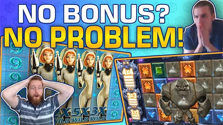 no bonus no problem big wins on slots without bonus feature