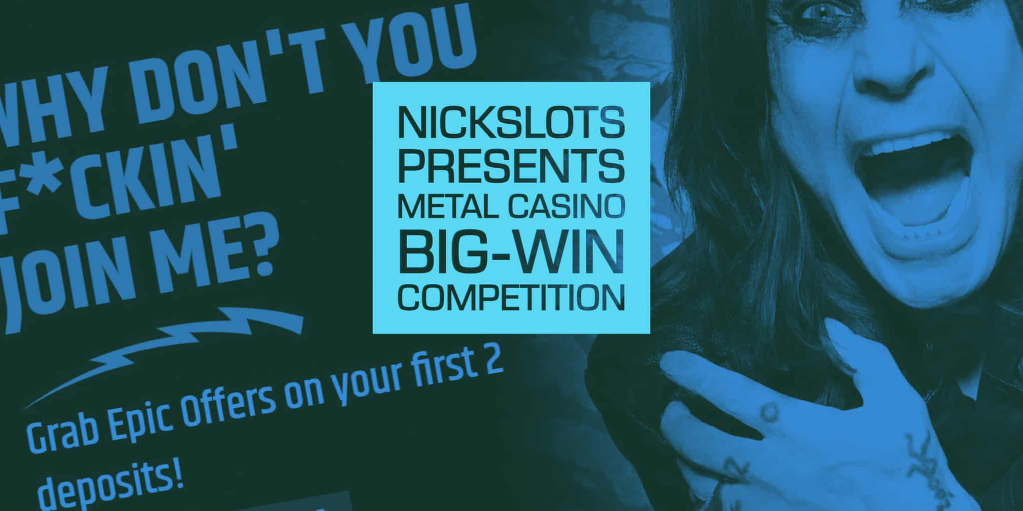 Nickslots presents a massive big win promotion with Metal Casino