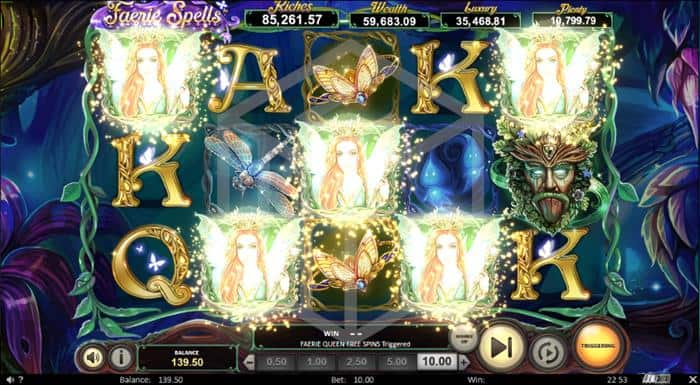Feature Trigger in Faerie Spins Slot by Betsoft Gaming