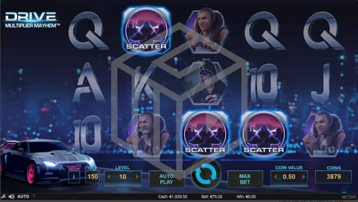 Drive Multiplier Mayhem Slot Feature Trigger Screenshot