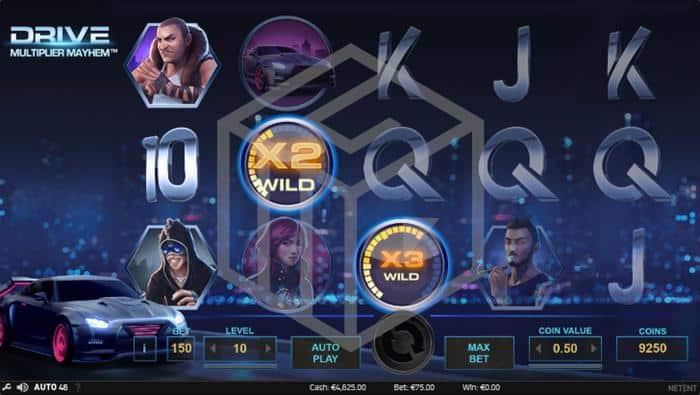 Drive Multiplier Mayhem Slot Main Reels And Multiplier Wilds Screenshot